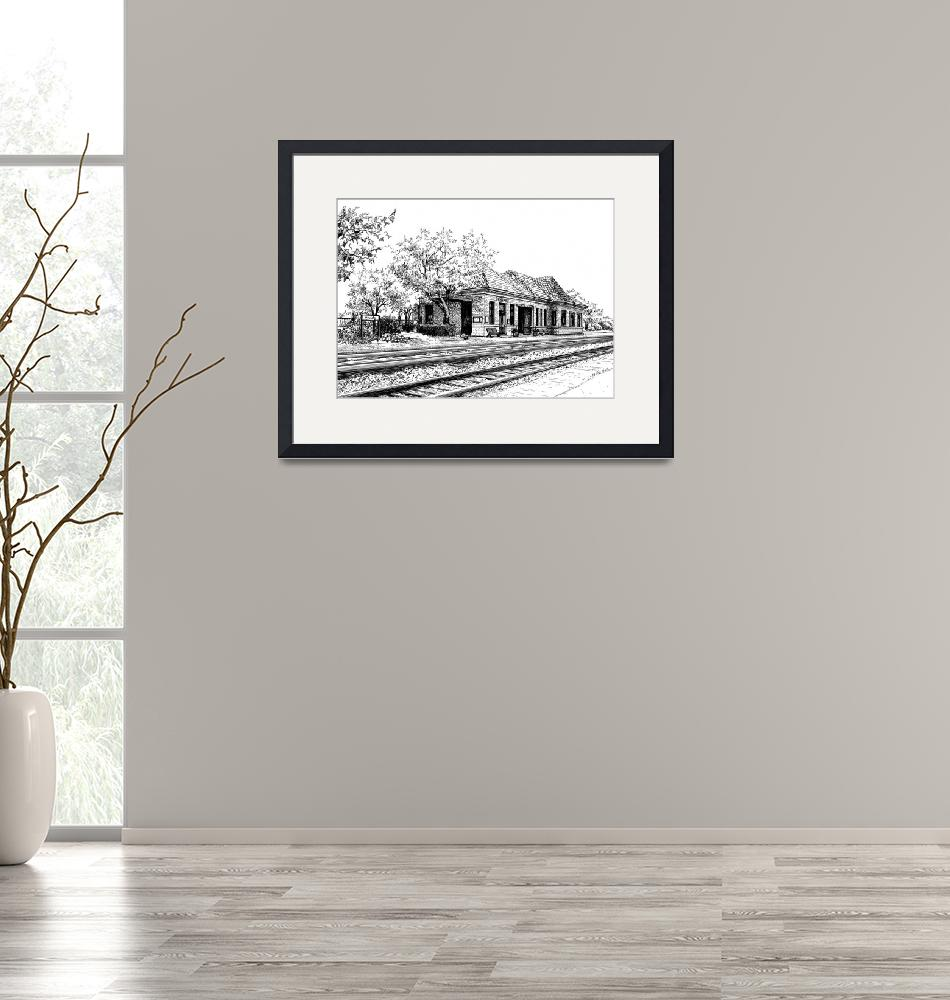 """""""Hinsdale Train Station""""  (2015) by marypalmer"""