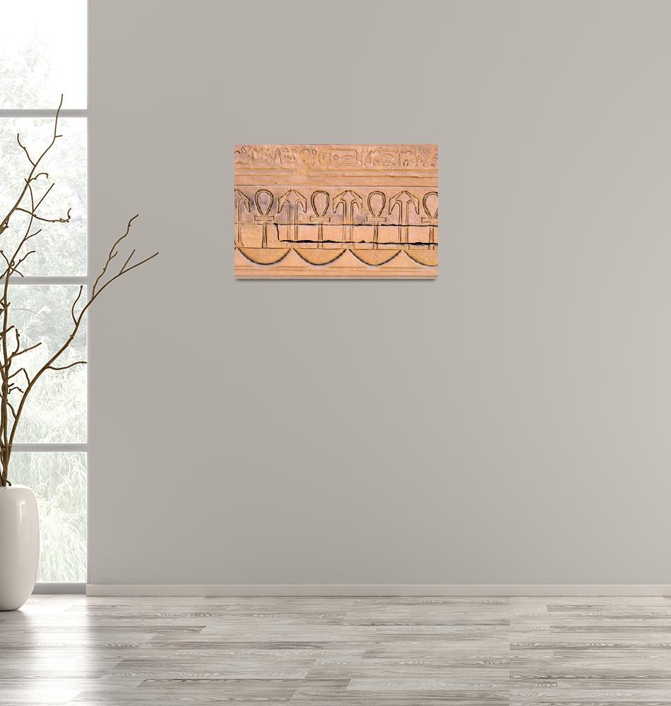 """Dendera Carving""  (2012) by brianraggatt"