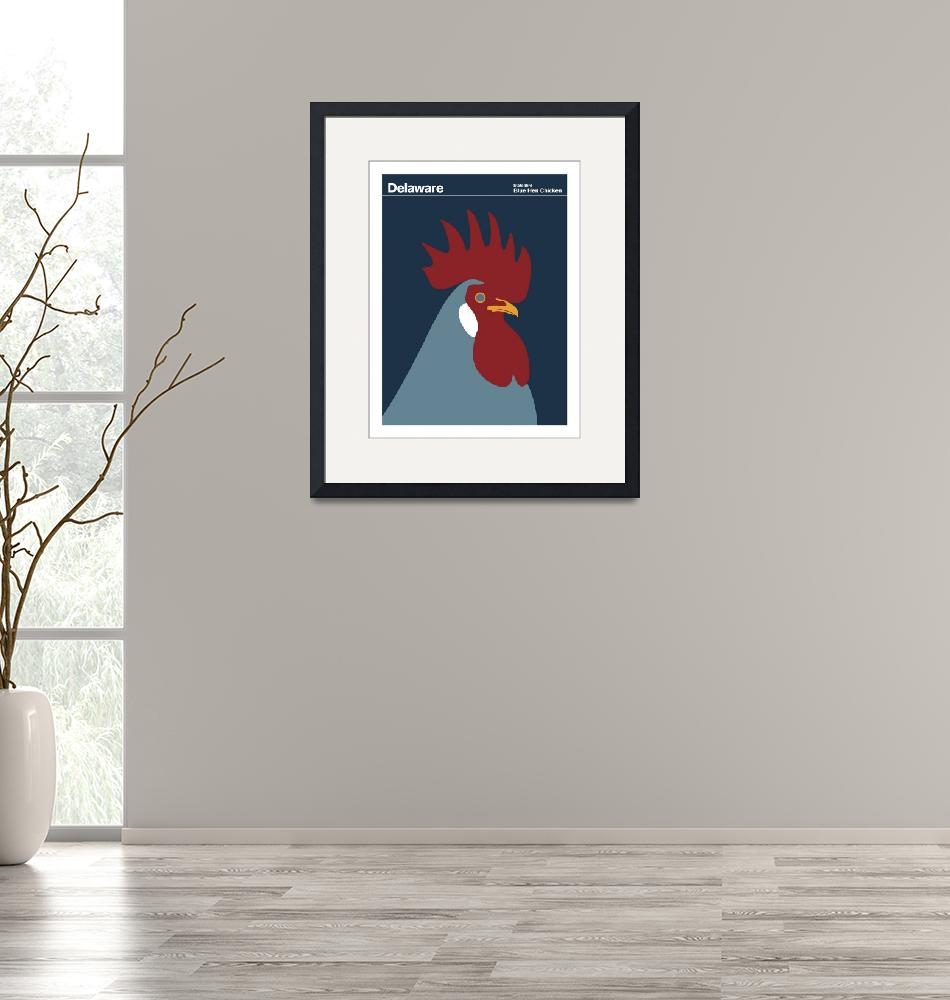 """Delaware State Bird: Blue Hen Chicken""  by artlicensing"