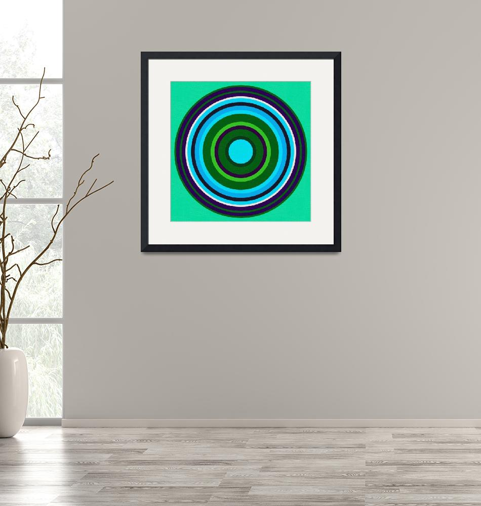 """""""Abstract Rainbow Circles No 6 by Ahmet Asar"""" by motionage"""