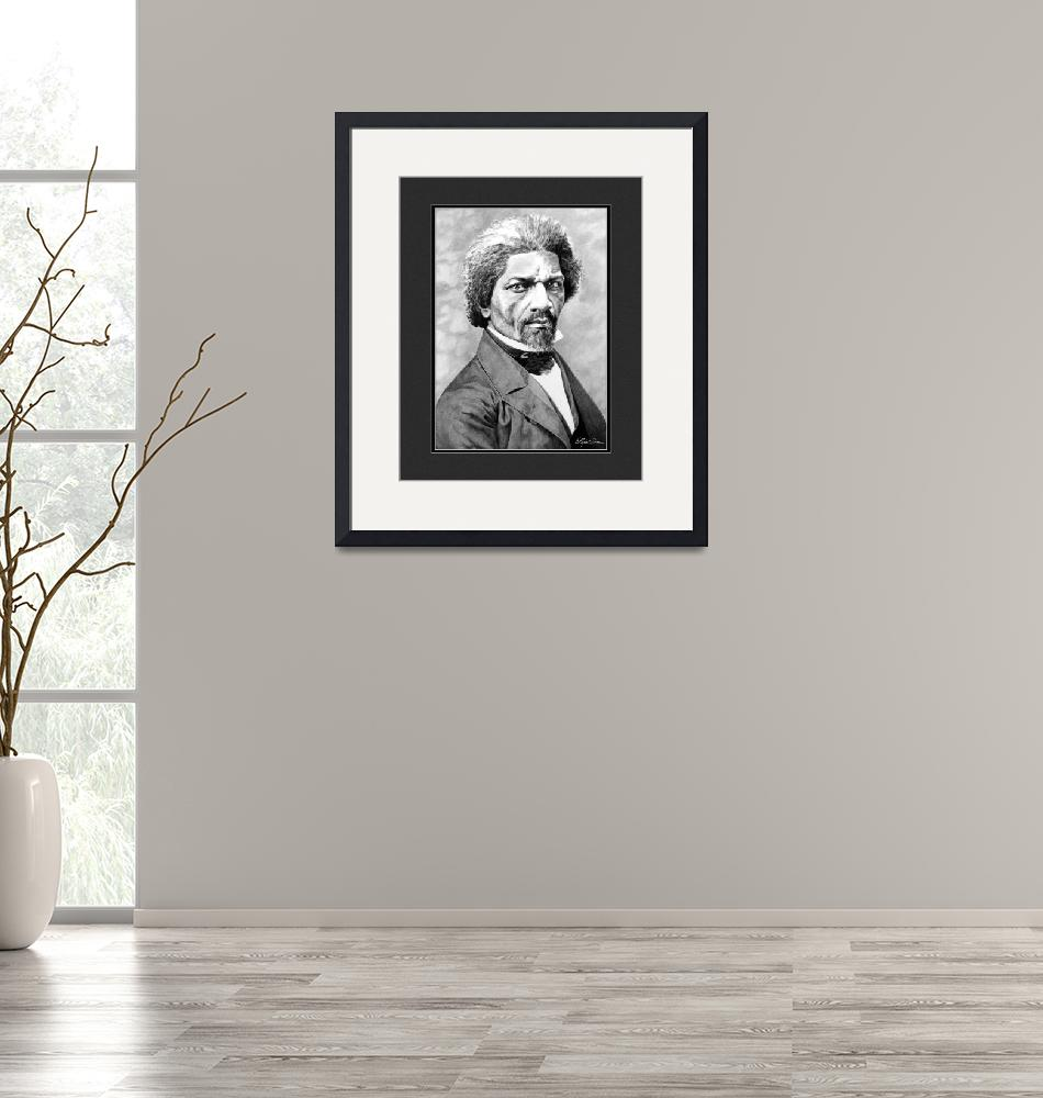 """""""Frederick Douglass with Digital Mat""""  by elizscism"""