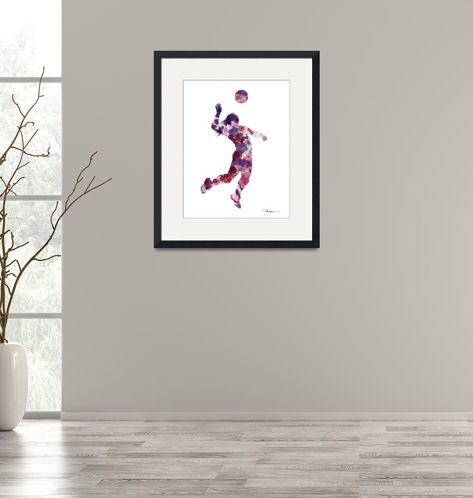"""""""Volleyball Player""""  (2017) by k9artgallery"""