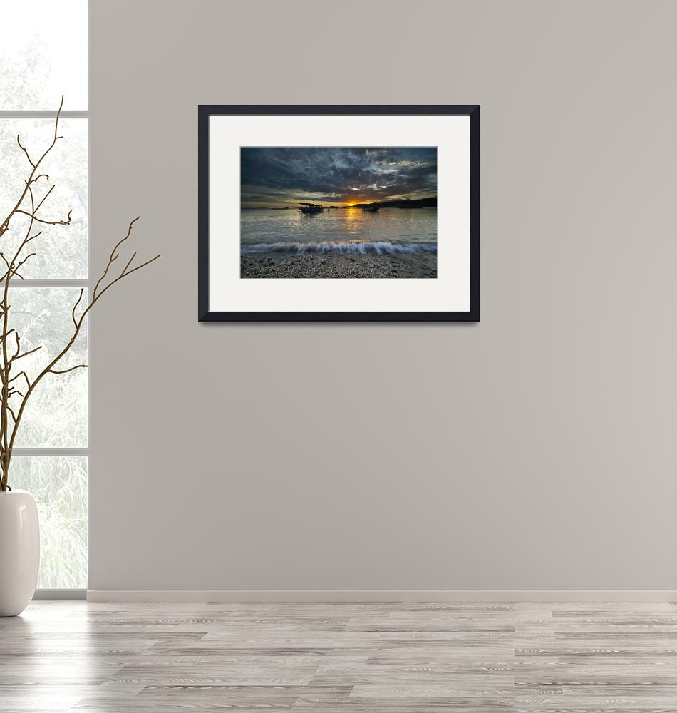 """""""Landscape - Sunset at the beach""""  (2010) by hockhow"""