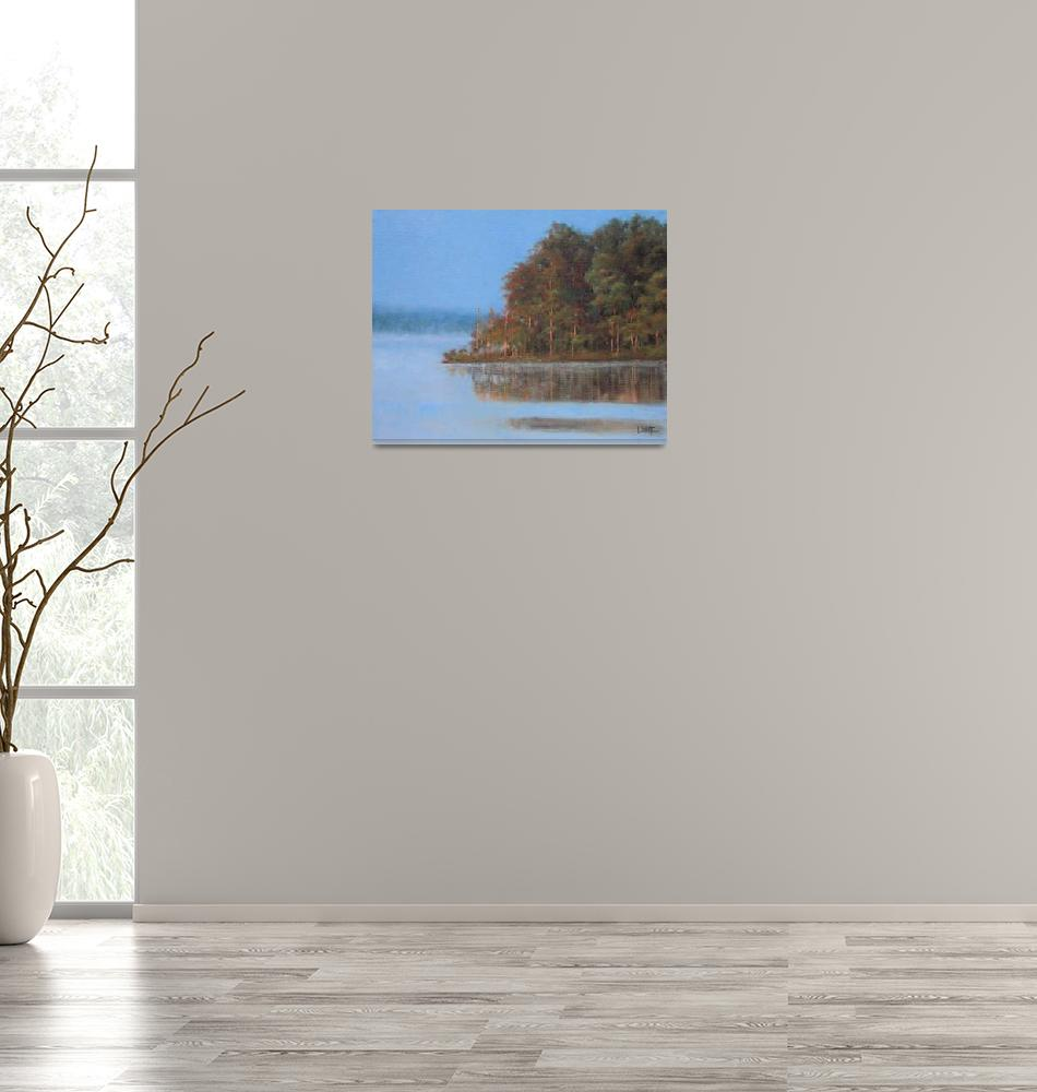 """Jordan Lake Morning""  (2012) by LDWhite"