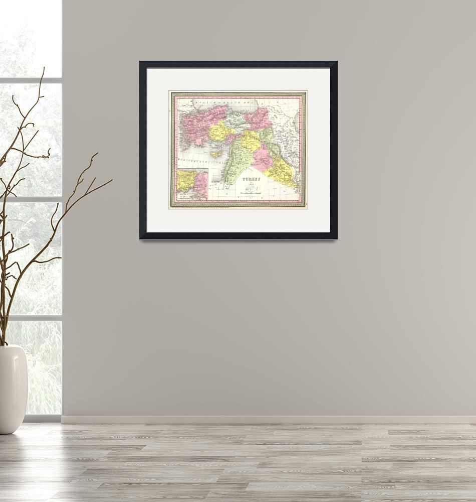 """Vintage Map of Turkey (1850)""  by Alleycatshirts"