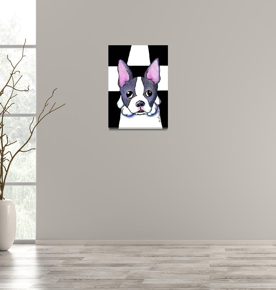 """""""Boston Terrier""""  (2005) by KiniArt"""