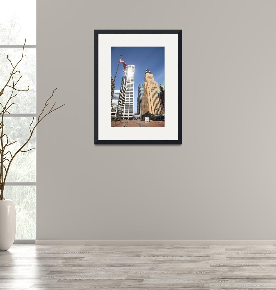 """""""Minneapolis Skyscrapers""""  (2010) by Ffooter"""