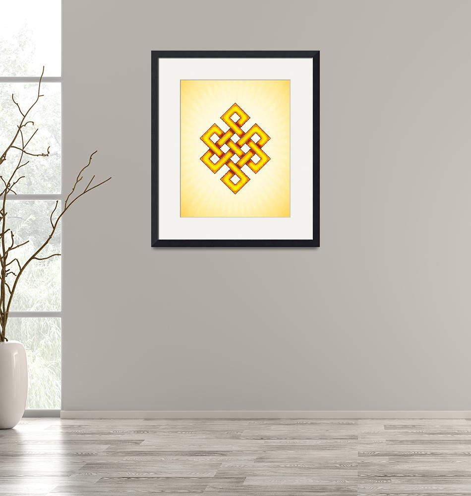 """Endless Knot - Yellow""  by dcz"
