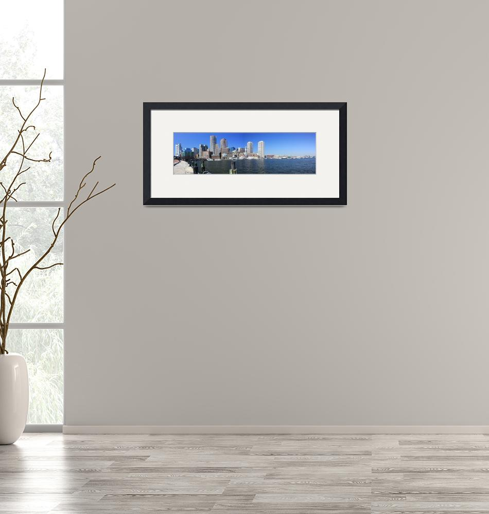 """""""Boston Water Front Panorama""""  (2008) by Davideby"""