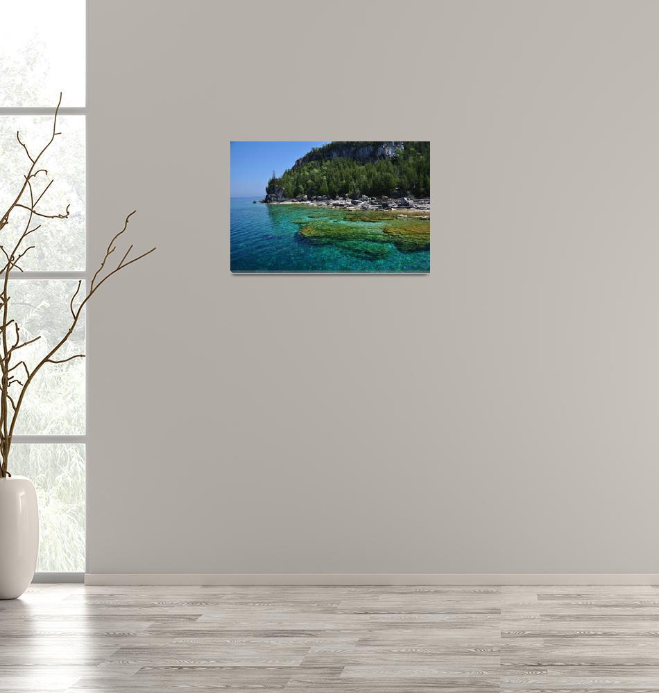 """""""Georgian Bay at Bruce Peninsula""""  (2010) by trivzphoto"""
