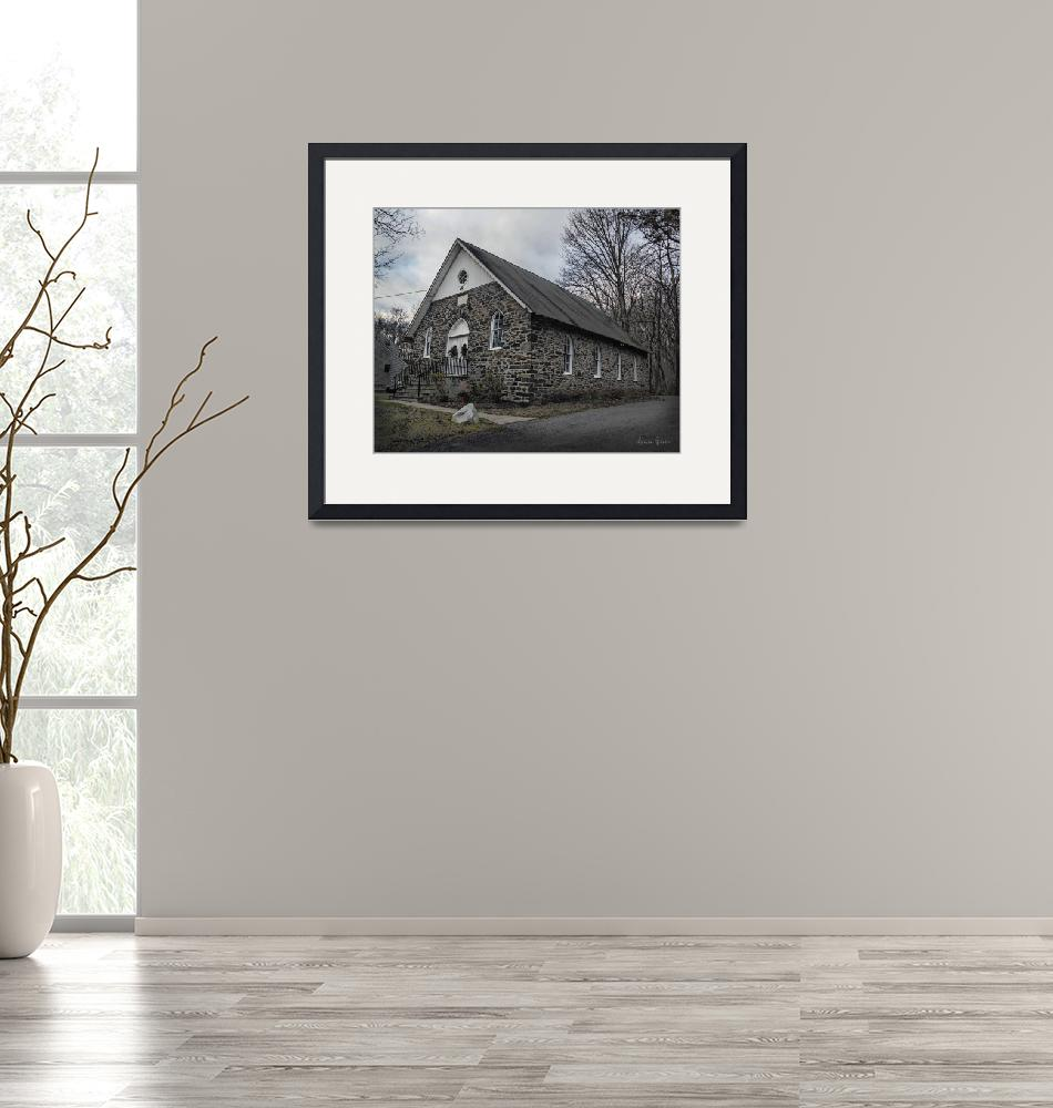 """""""Mount Zion Methodist Church""""  (2019) by LouiseReeves"""