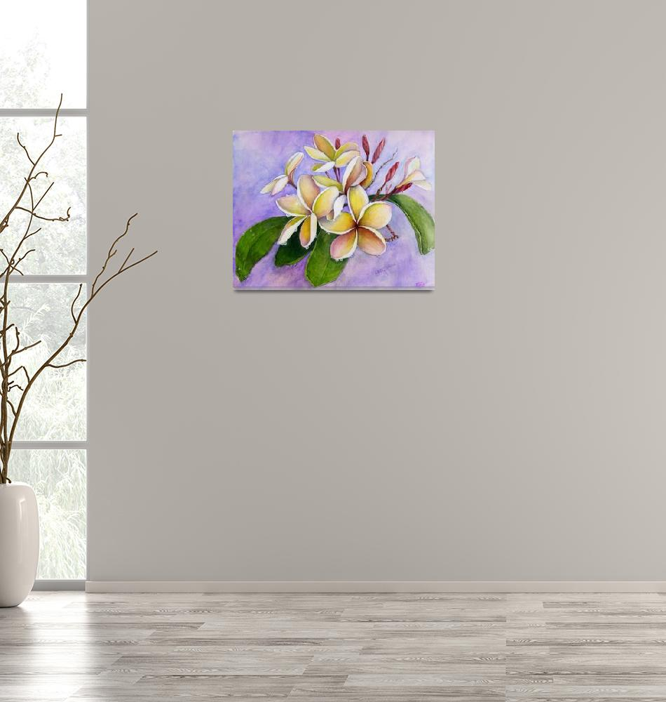 """Plumeria After the Rain At Kipu Kai""  (2007) by Art-That-Inspires"