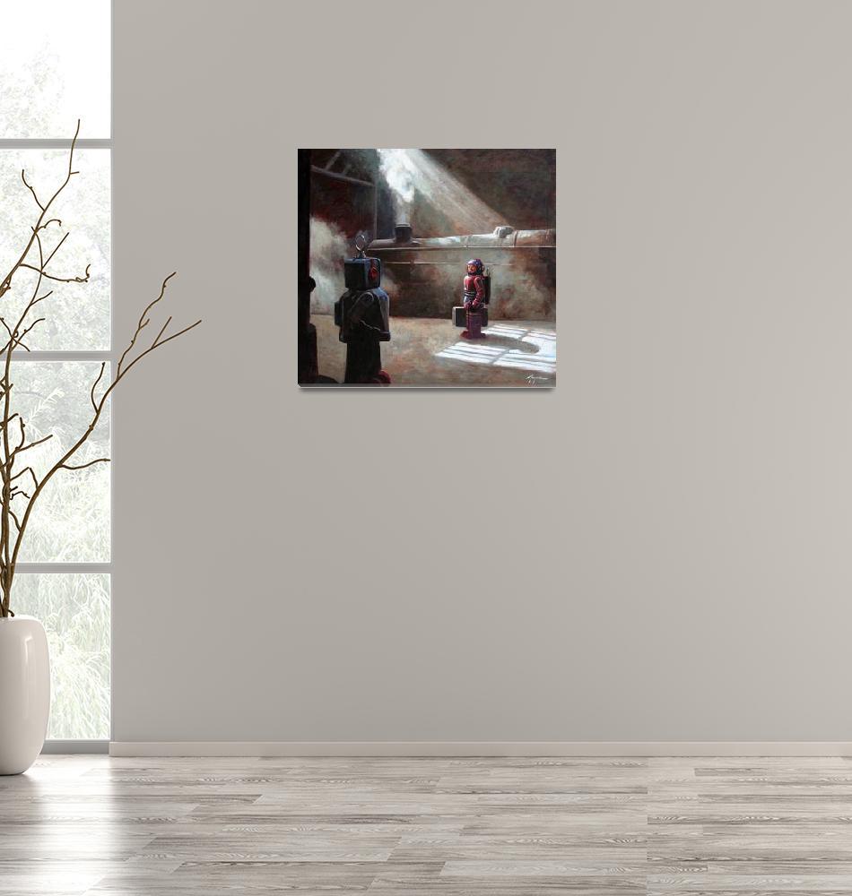 """glances 17x22""  (2008) by Tinman"