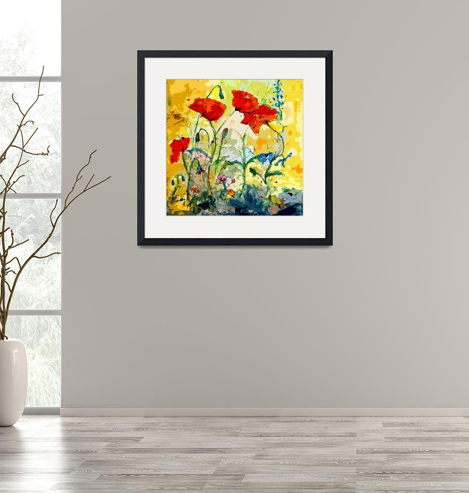 """""""Poppies Provencale Contemporary Decor Mixed Media""""  (2012) by GinetteCallaway"""