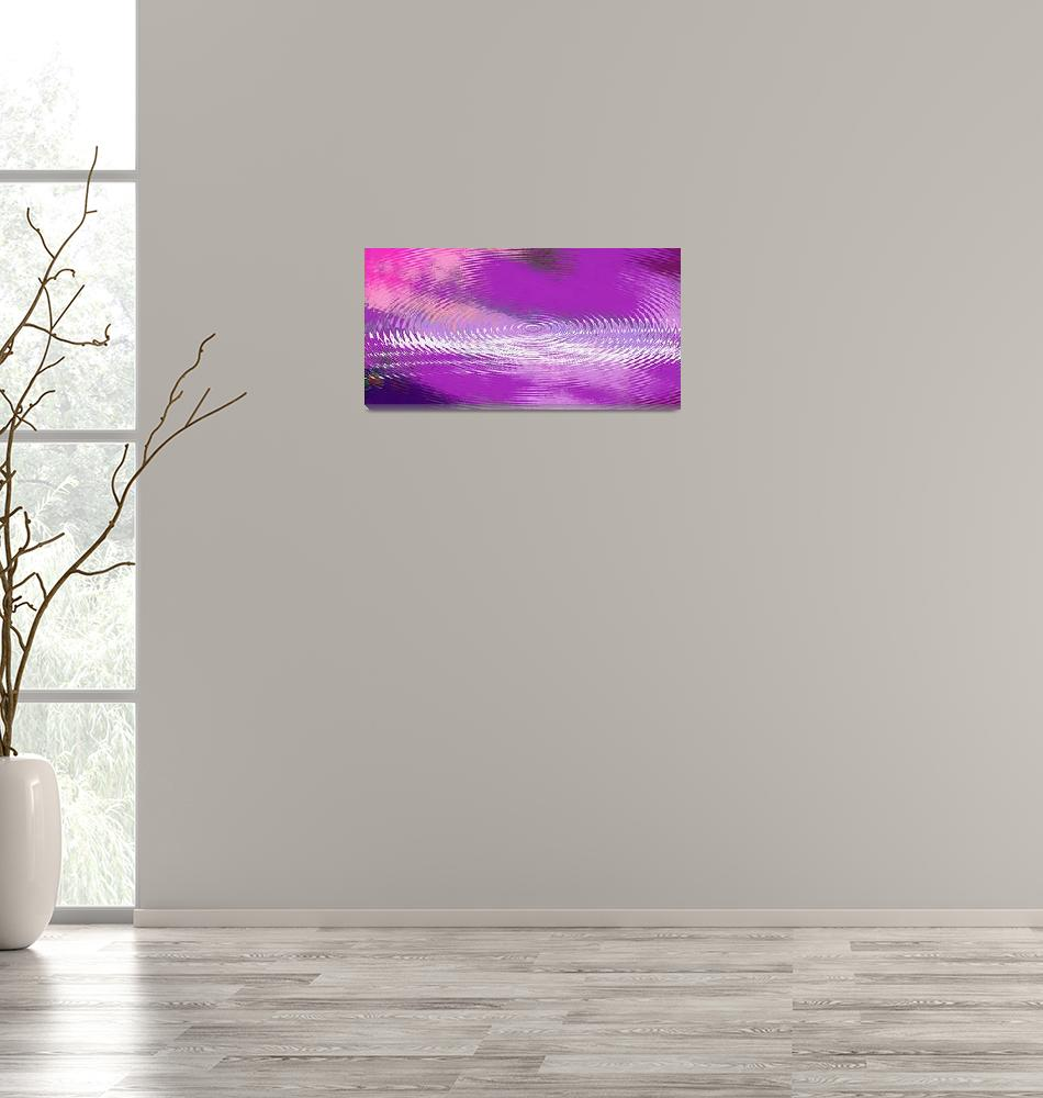 """ORIGINAL FINE ART DIGITAL ABSTRACT GALAXIE VIOLET""  by grl"