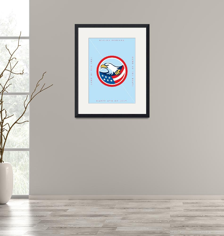 """""""Independence Day Greeting Card-American Bald Eagle""""  (2015) by patrimonio"""