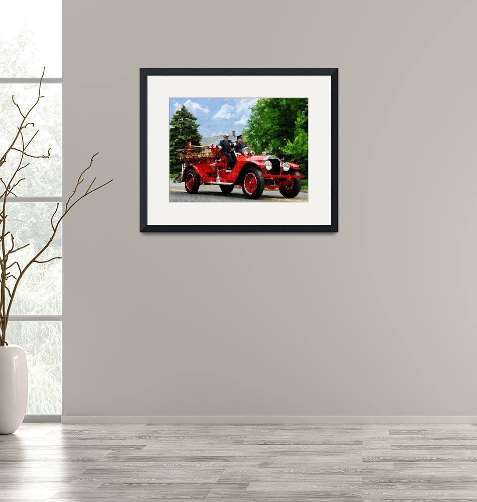 """""""Old Fashioned Fire Engine""""  (2011) by susansartgallery"""