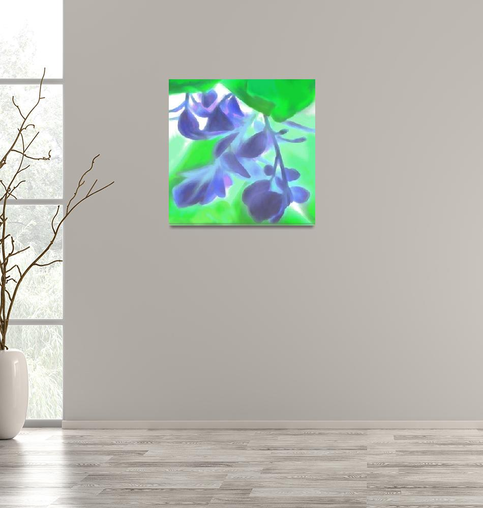 """GT Majid Roses detail blue green""  (2009) by LeslieTillmann"