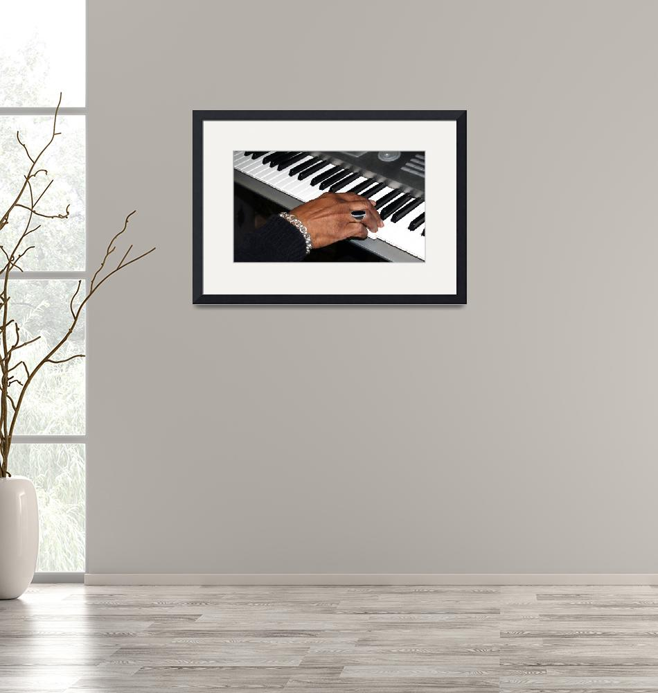 """Session Photo 1 Keyboard and Hand by Ginette""  (2010) by GinetteCallaway"