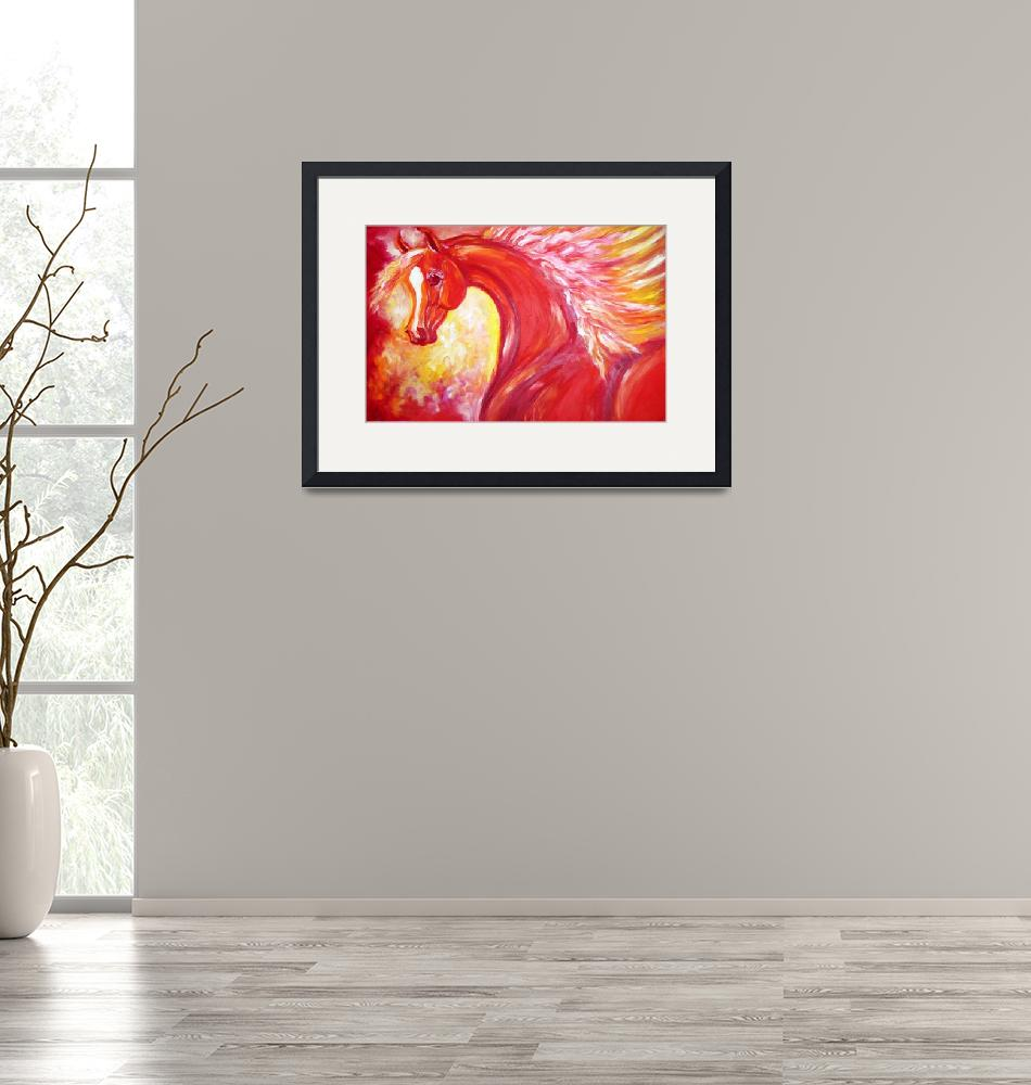 """""""Red Stallion"""" (2010) by EquineArtTreasures"""