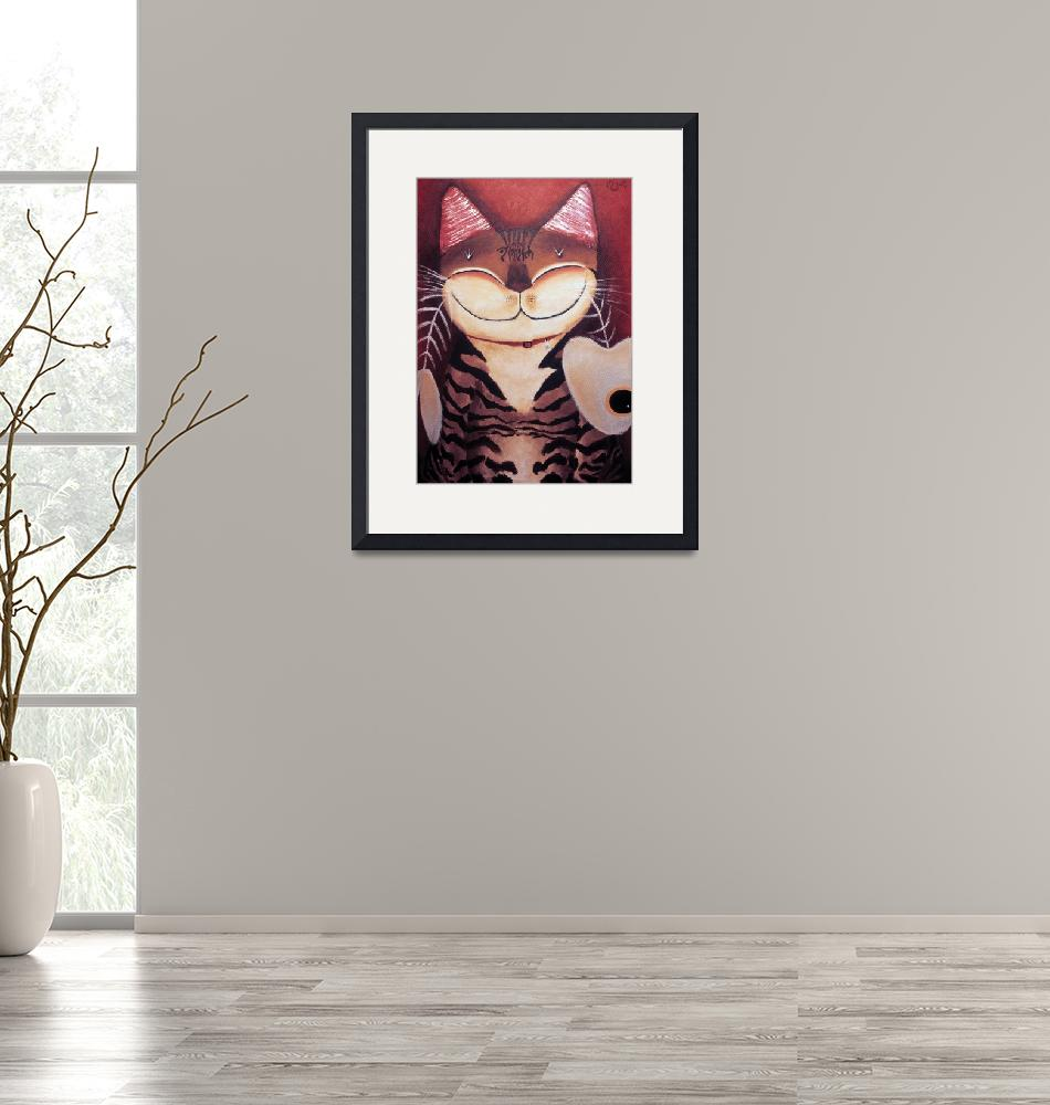 """""""Cat art by catmaSutra - Portrait of a Cat""""  (2005) by catmasutra"""
