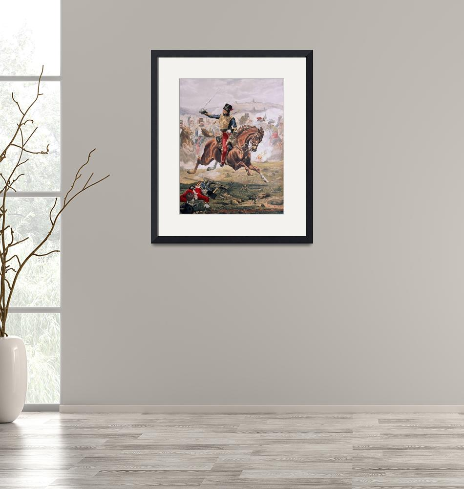 """""""Lord Cardigan (1797-1868) leading the Charge of th""""  by fineartmasters"""