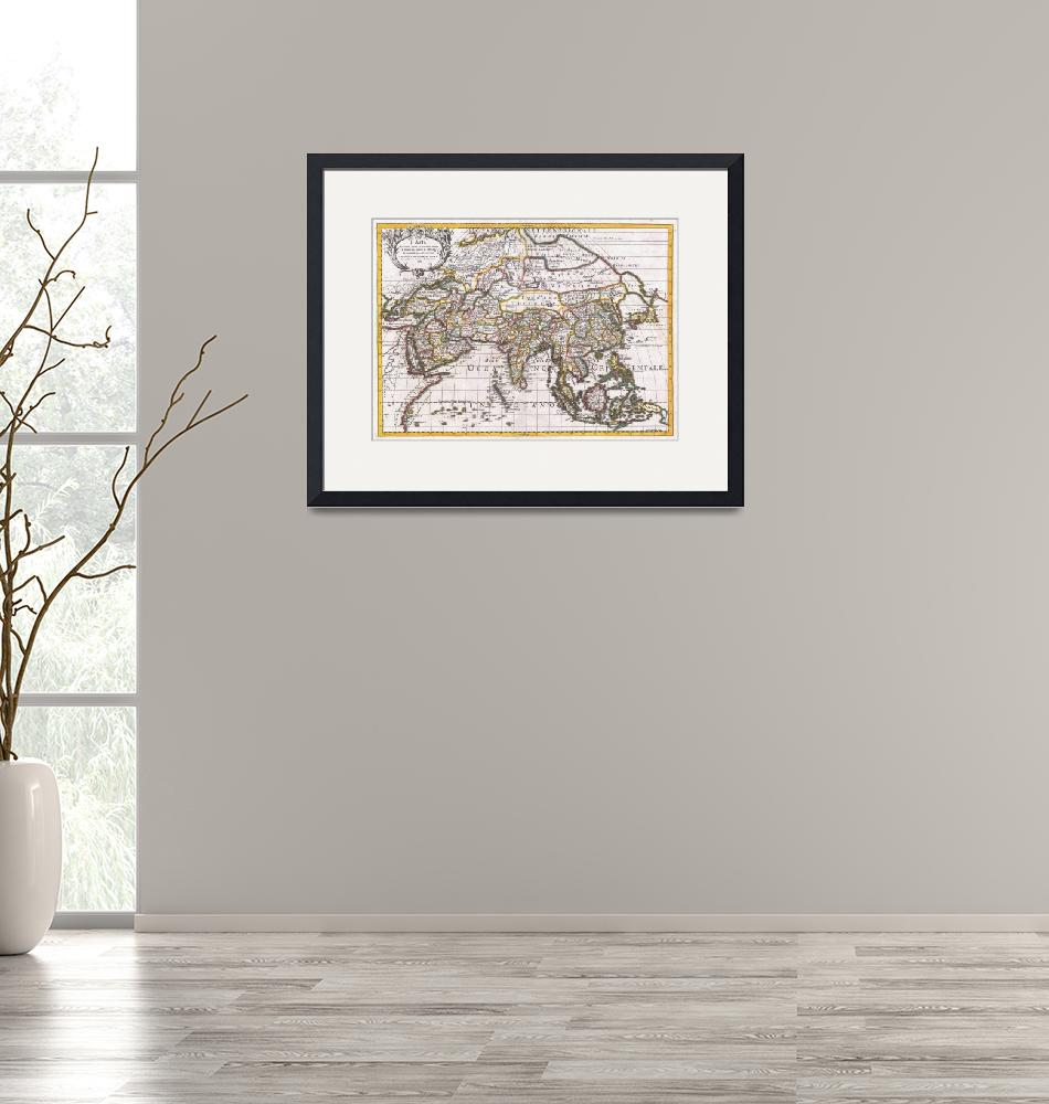 """""""Vintage Map of Asia (1687)""""  by Alleycatshirts"""