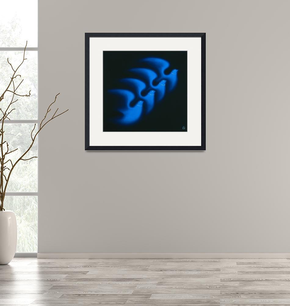 """""""Four Blue Doves""""  by artlicensing"""