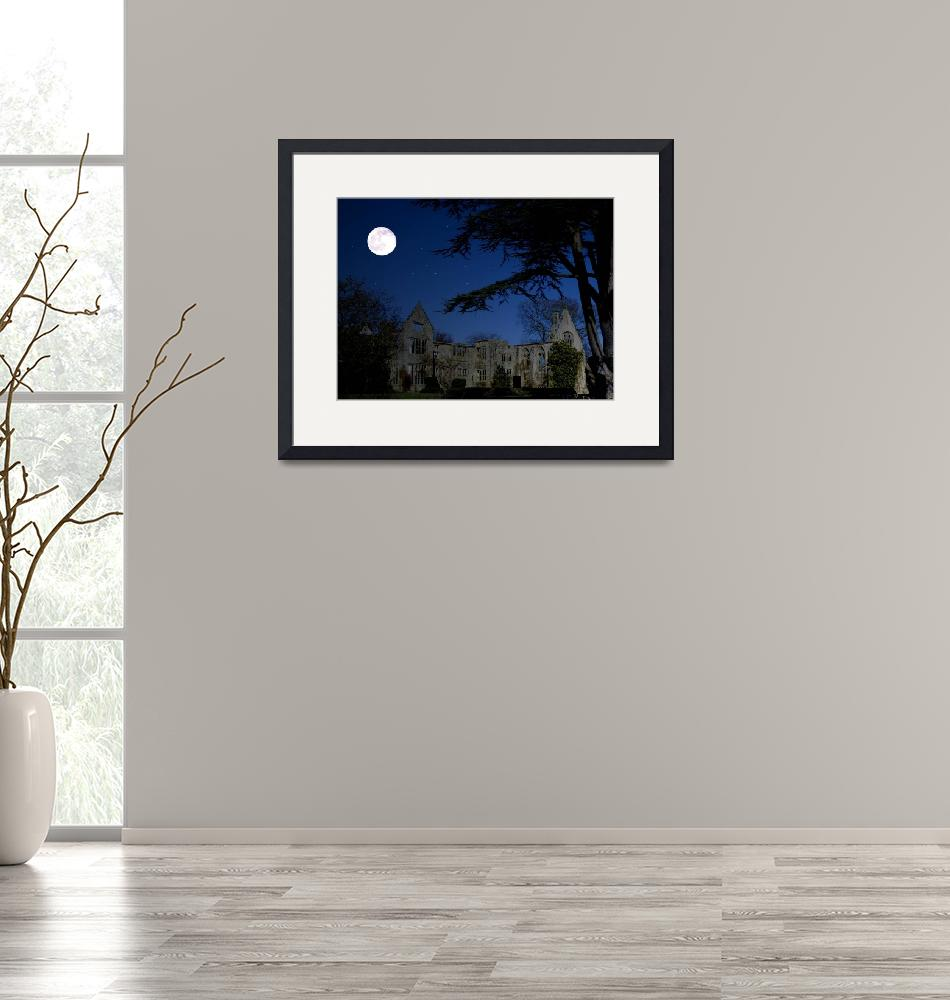 """Mansion Ruins by Moonlight""  (2010) by Paul_Rumsey"