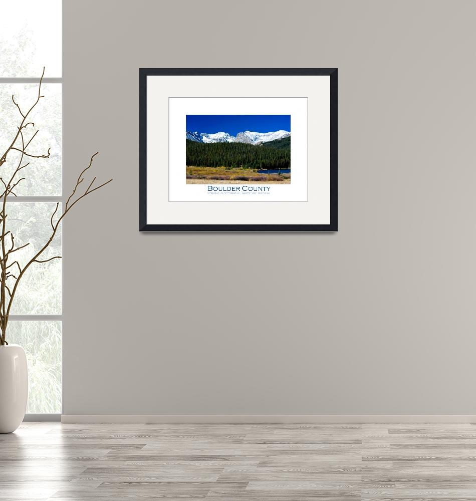 """""""Rocky Mountains - Continental Divide - Indian Peak""""  (2009) by lightningman"""