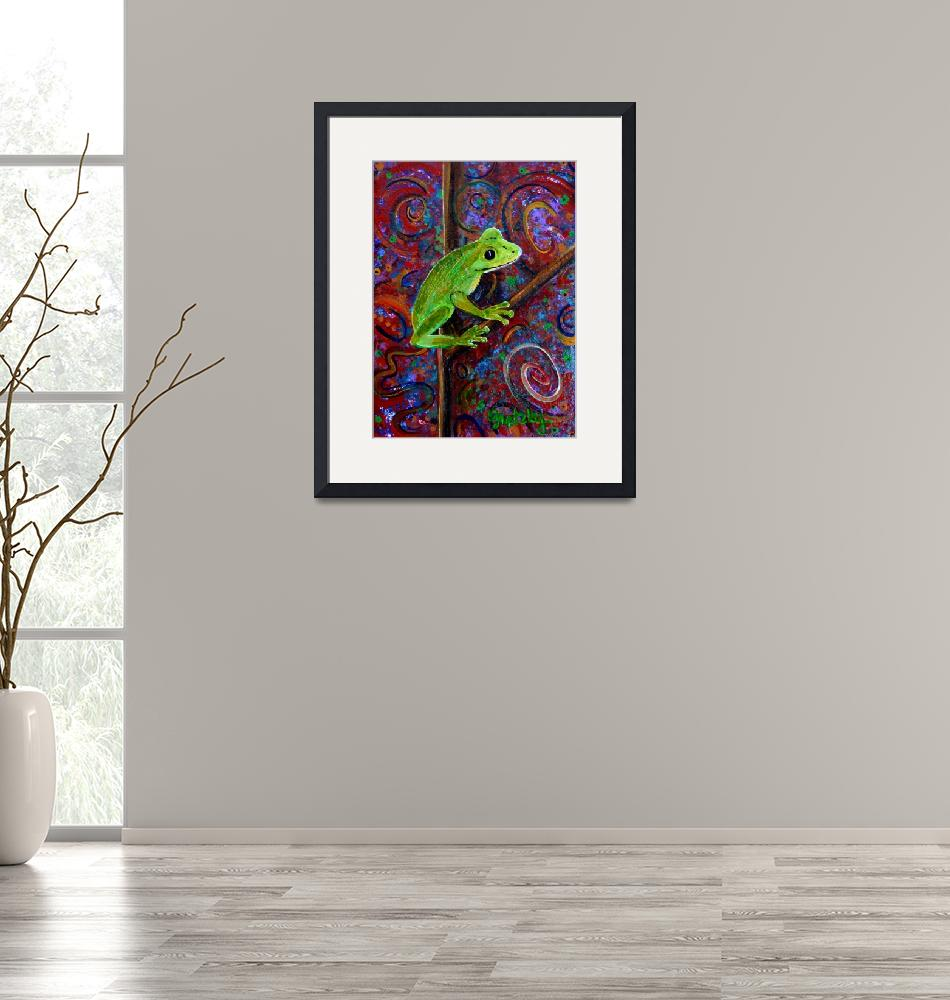 """Tree Frog"" (2008) by paintingsbygretzky"