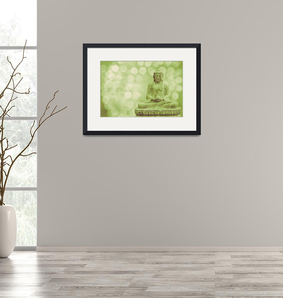 """""""Buddha - the light (green)""""  (2012) by hannes61"""
