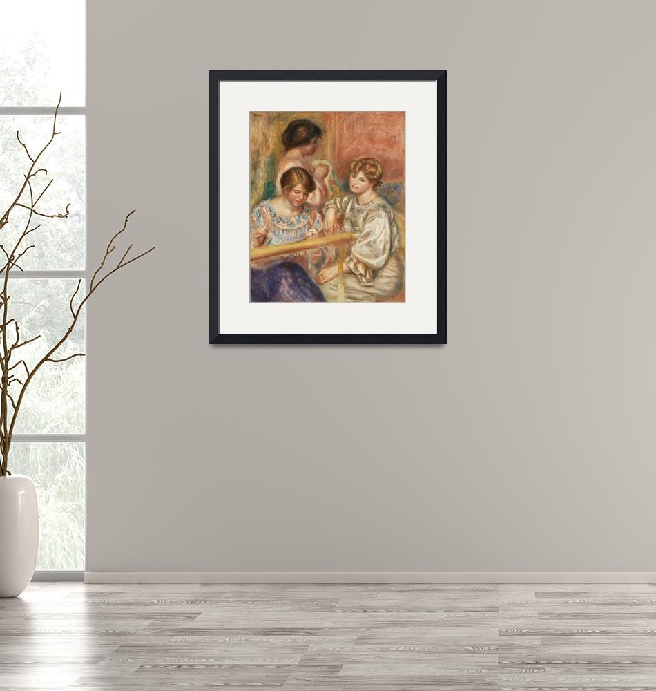 """""""Embroiderers by Renoir""""  by FineArtClassics"""