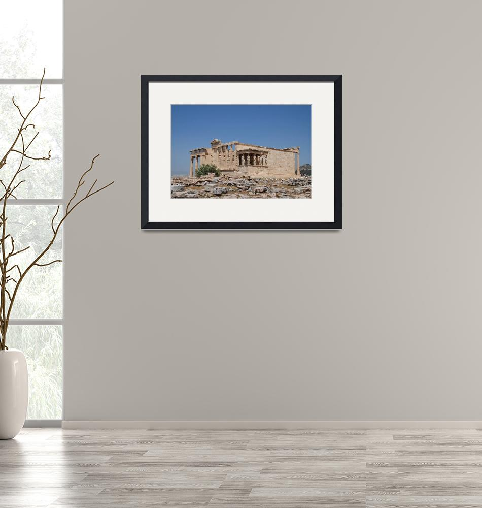 """""""Acropolis temple in Athens""""  (2016) by DavidFowler"""