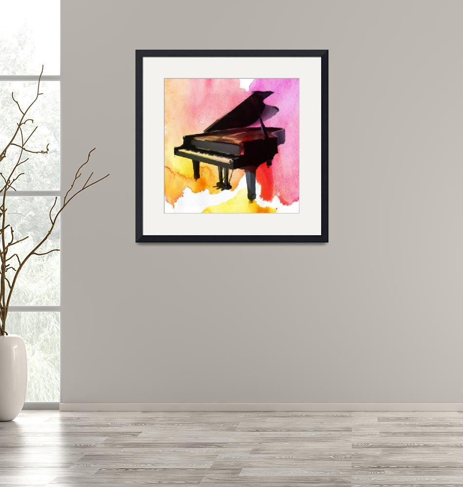 """""""ORL-2020-1 Colorful Piano""""  by Aneri"""