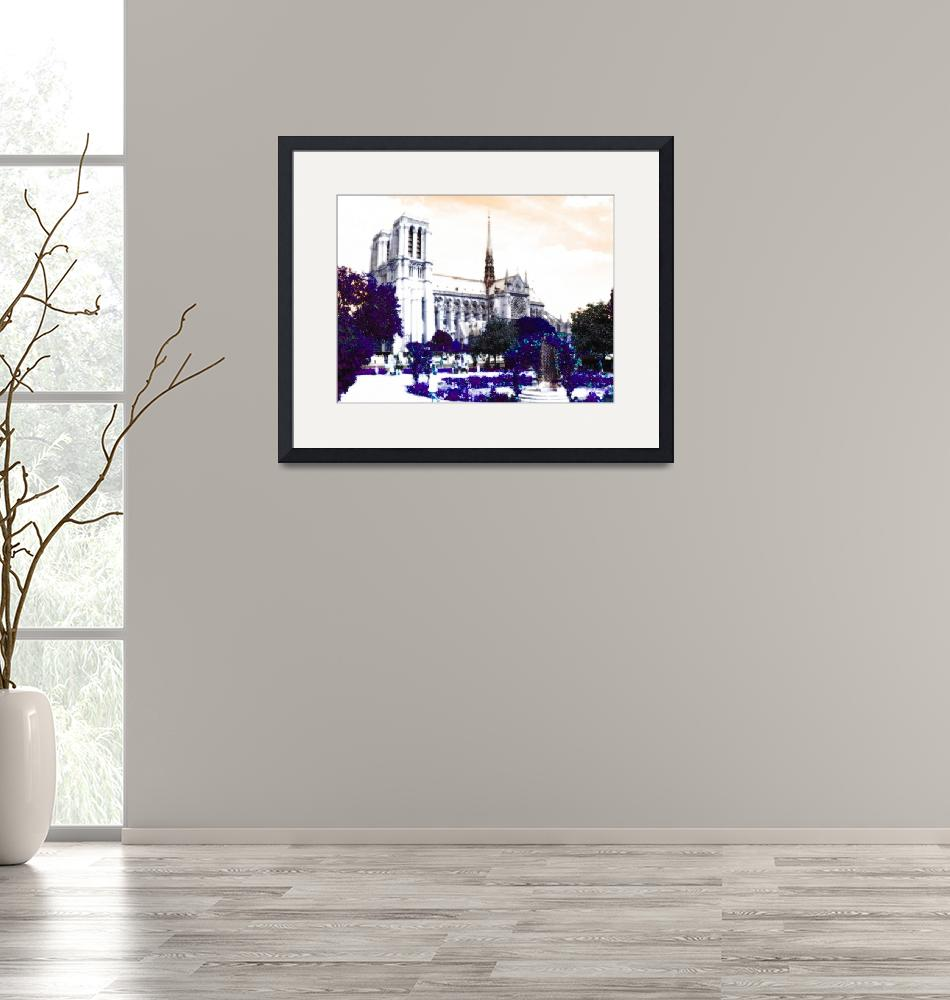 """Notre Dame in Purple""  (2010) by Svetlana-Bellon-de-Light"