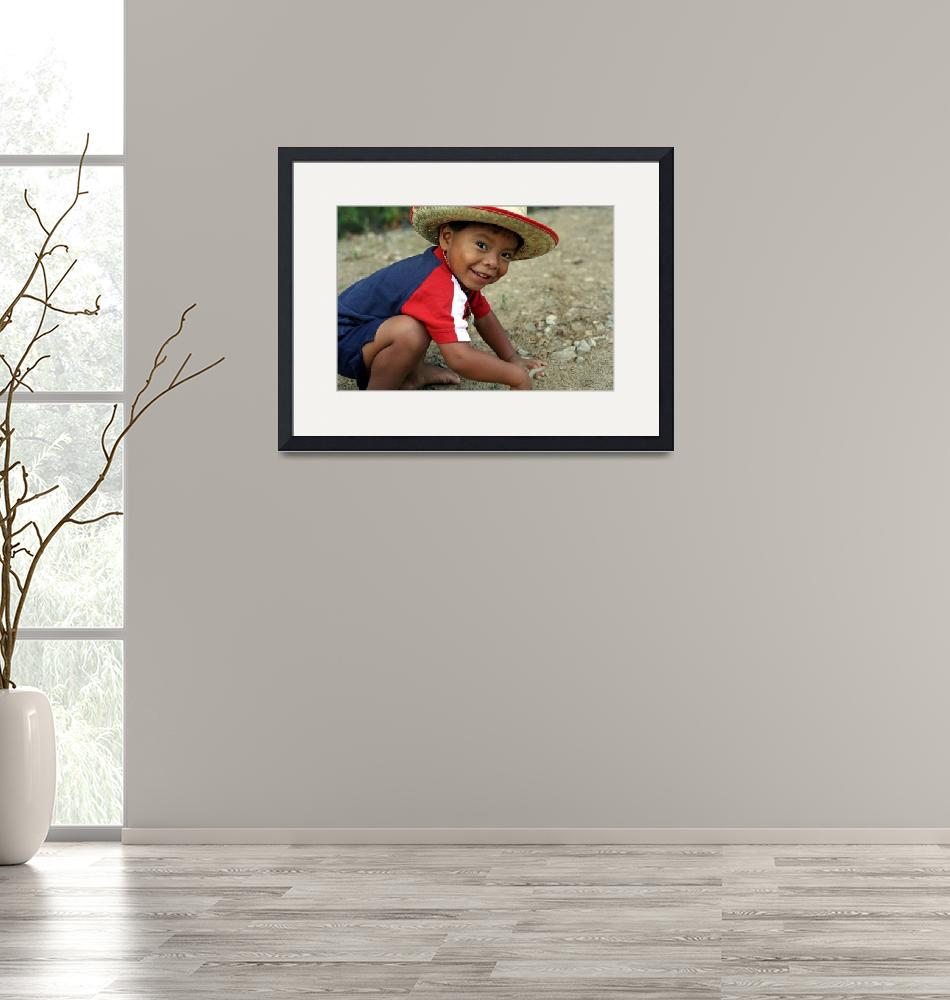 """""""Hispanic toddler playing in the dirt"""" (2010) by BehindTheLens"""