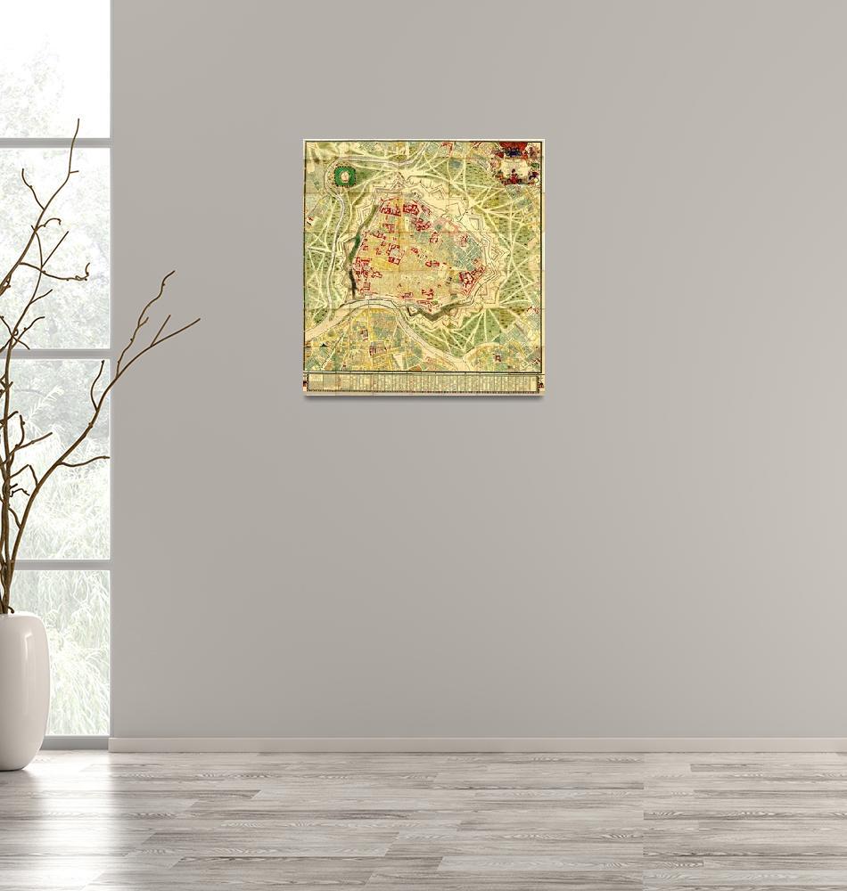 """Vintage Map of Vienna Austria (1710)""  by Alleycatshirts"