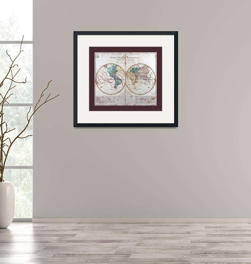 """World  Map AD 1760 with Matching Small Border""  (2013) by TheNorthernTerritory"