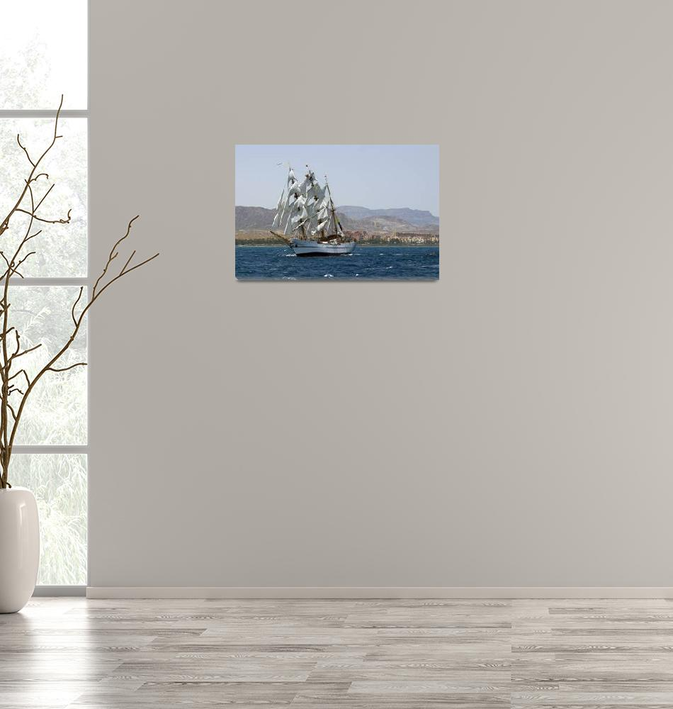 """BAE Guayas off the Coast of Spain""  (2009) by Avanzini"