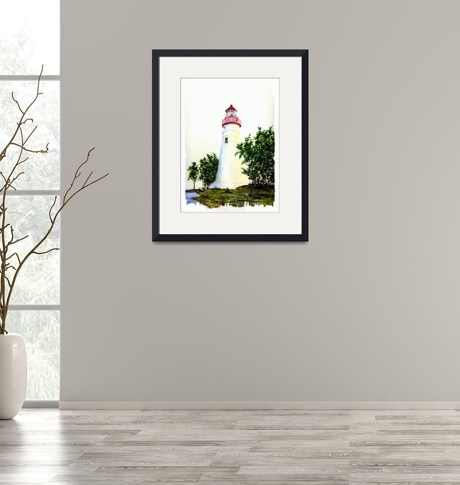 """Marblehead Lighthouse""  (2007) by vigliotti"