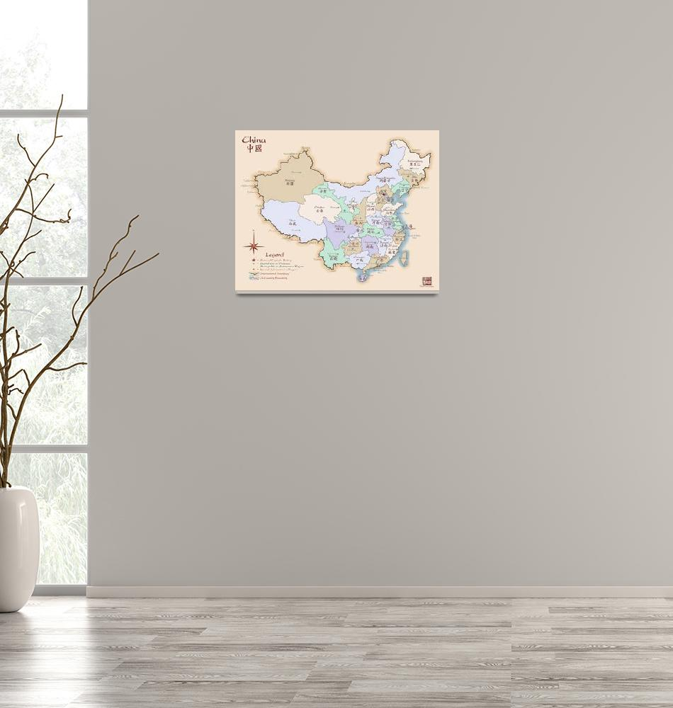 """""""China Map Special Edition Fine Art""""  (2008) by redthreadmaps"""