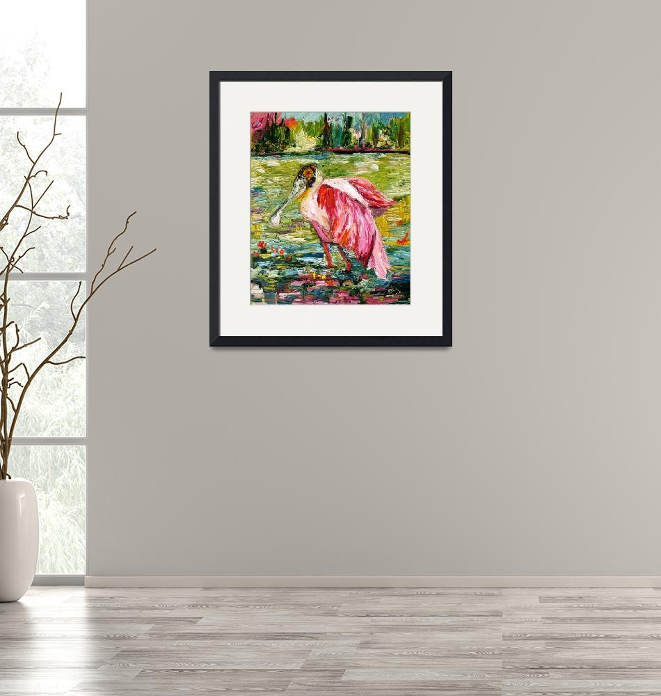 """""""Roseate Spoonbill Oil Painting by Ginette Callaway""""  (2010) by GinetteCallaway"""