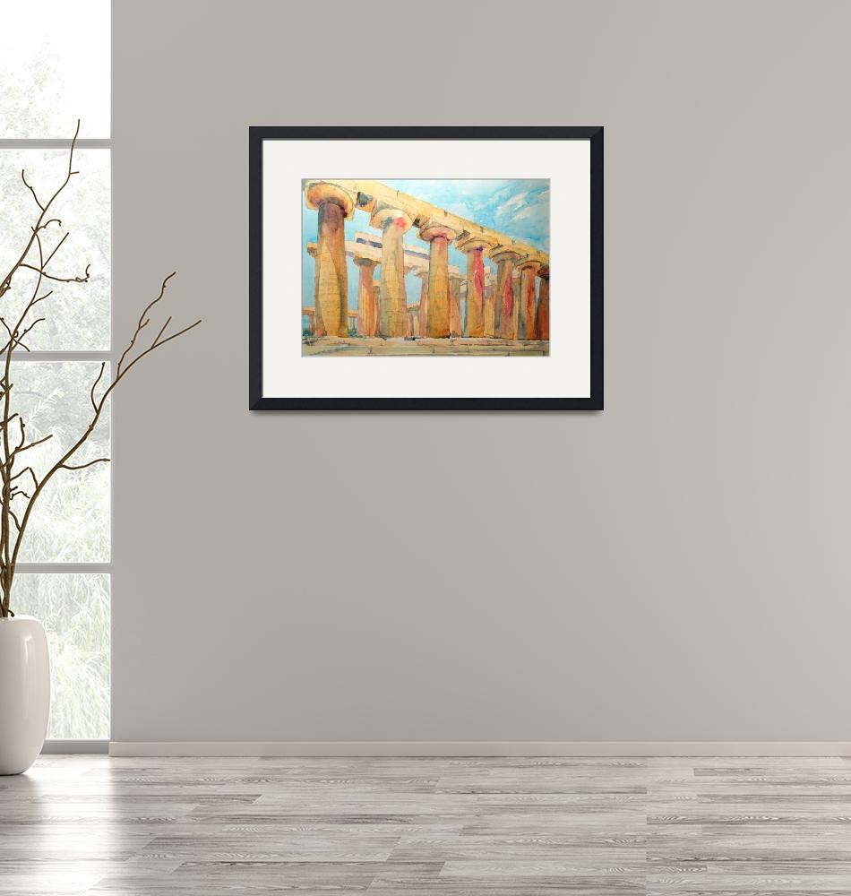 """""""The First Temple of Hera""""  (2021) by ShaSha"""