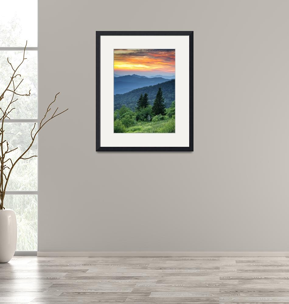 """""""Fire in the Mountains - Blue Ridge Parkway""""  (2011) by DAPhoto"""