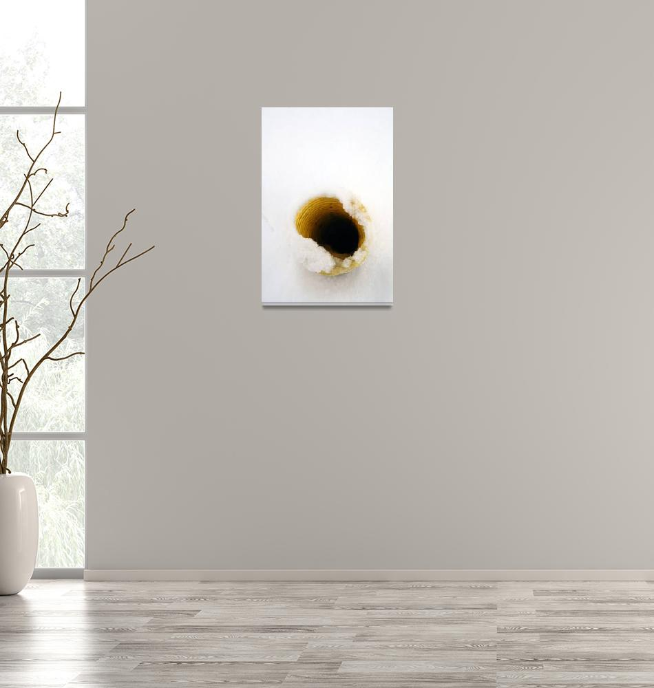 """""""Yellow Pipe in Snow Abstract Art to Buy""""  (2010) by tobiphoto"""