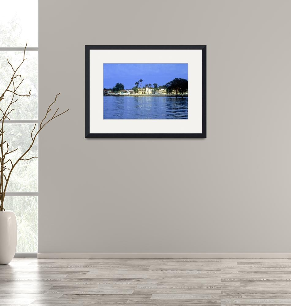 """""""Sao Tome City and Cathedral From The Sea""""  (2000) by JoaoPonces"""