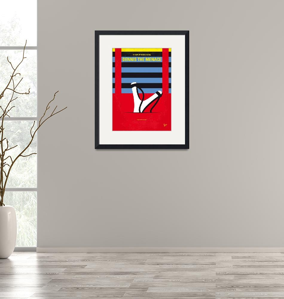 """No1073 My Dennis the Menace minimal movie poster""  by Chungkong"