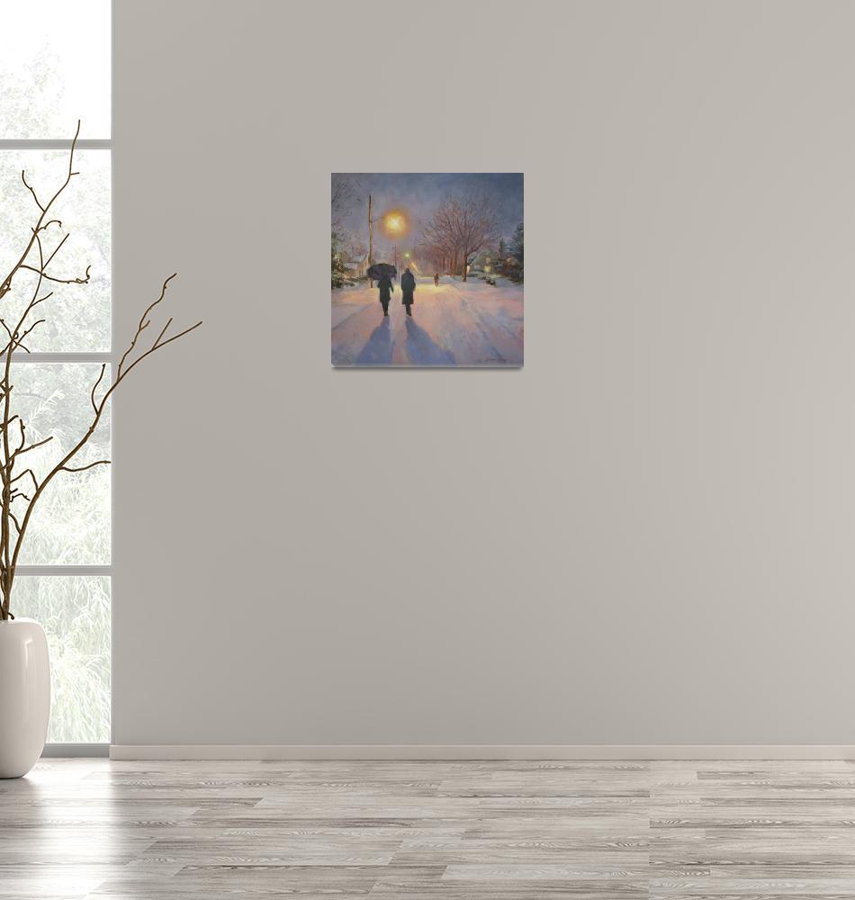 """""""Lamplit Snow""""  by Ingri"""