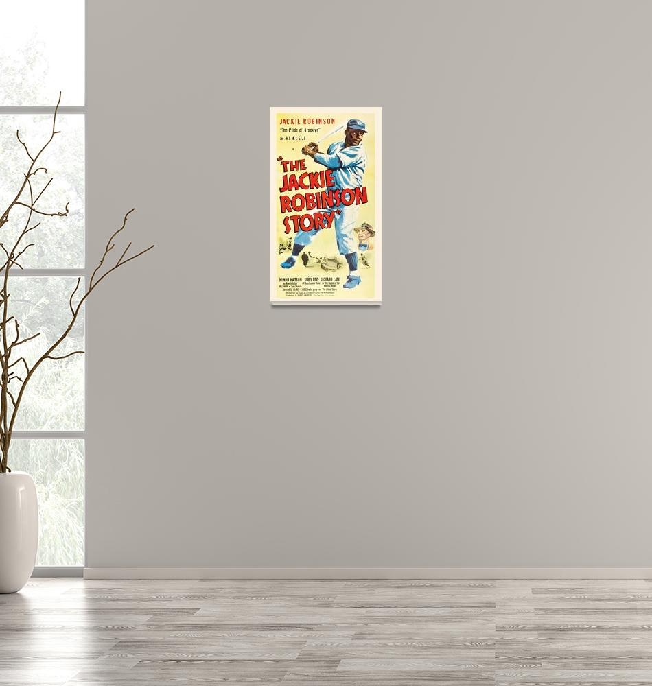 """""""The Jackie Robinson Story Vintage Movie Poster"""" by FineArtClassics"""